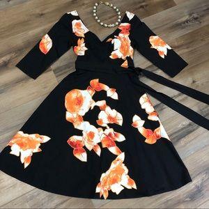 Beautiful Floral Appliqué Dress